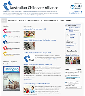 Australian Childcare Alliance website by Abraham Multimedia